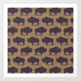 Buffalo Bison Pattern 289 Art Print