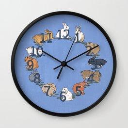 CLOCK BUNNIES Wall Clock