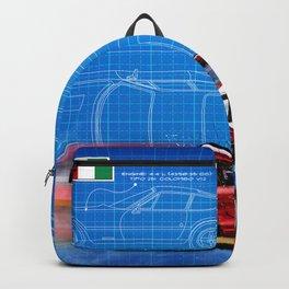 365 GTB/4 Daytona Competizione Blueprint Backpack