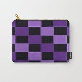 Purple ChEckerBoard Carry-All Pouch