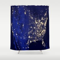 america Shower Curtains featuring America by 2sweet4words Designs