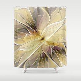 Floral Beauty, Abstract Fractal Art Flower Shower Curtain