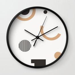 Persis - earthtone, earth tones art print, abstract art, geometric minimal art print Wall Clock