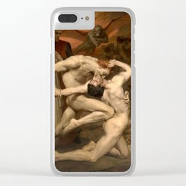 Dante and Virgile by William Bouguereau, 1850 Clear iPhone Case