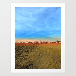 Horizon, clouds, sky and sunset | landscape photography Art Print