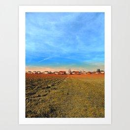 Horizon, clouds, sky and sunset | landscape photography Art Print