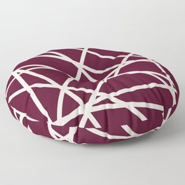 Maroon Line Floor Pillow