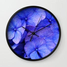 Hydrangea Dark flower pattern Wall Clock