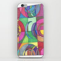 stained glass iPhone & iPod Skins featuring Stained Glass by SaraLaMotheArt