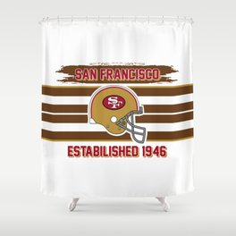 49ers club san francisco Shower Curtain