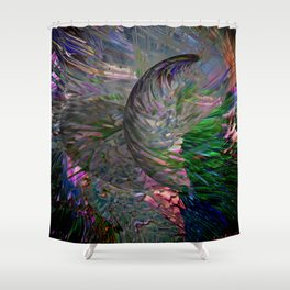color explotion #3 Shower Curtain
