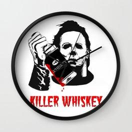 Halloween: Killer Whiskey Wall Clock