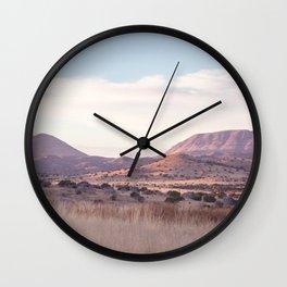 Marfa II - Sunset on the Range Wall Clock