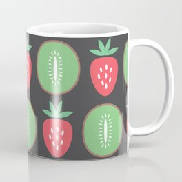 Kiwis & Strawberries - black Coffee Mug