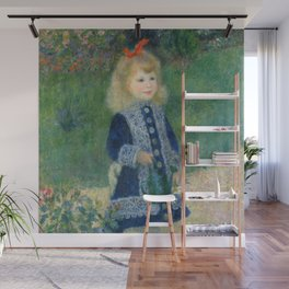 Renoir - A Girl with a Watering Can Wall Mural