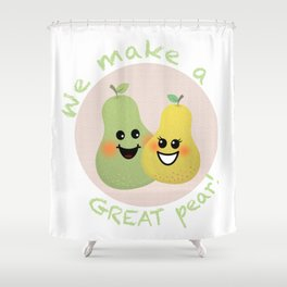 Great Pear Shower Curtain