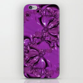 Shiny Purple Daisy Chain iPhone Skin