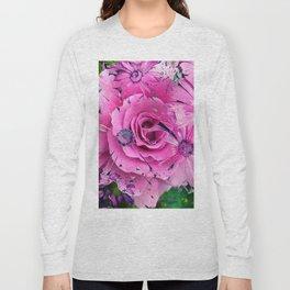 504 - Abstract Flower Design Long Sleeve T-shirt