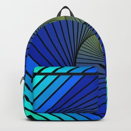 BLUE SPIRALS INTO YELLOW Backpack