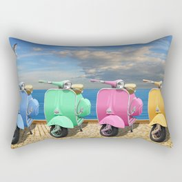 Scooter in bright colors Rectangular Pillow
