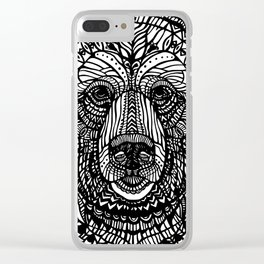 Black lace bear Clear iPhone Case