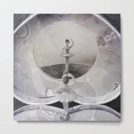 Music Box Ballerina Metal Print