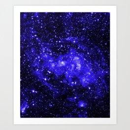 Chandra #1 Blue Art Print