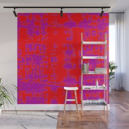 jitter, red violet, 3 Wall Mural