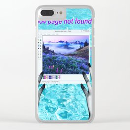 404 Clear iPhone Case