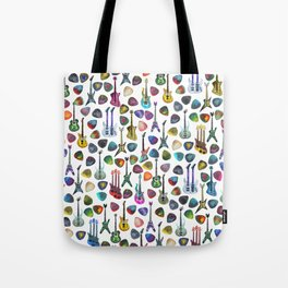 Guitars and Picks Tote Bag