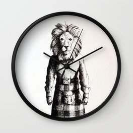 Lion in Kilt (Sketch) Wall Clock