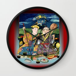 Sushi By The Sea Of Tea Wall Clock