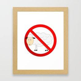 Sheep Not Allowed Sign Framed Art Print