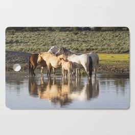 Reflection of a Mustang Family Cutting Board