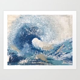 The Great Wave Abstract Ocean Art Print