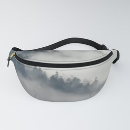 Fog in the forest Fanny Pack