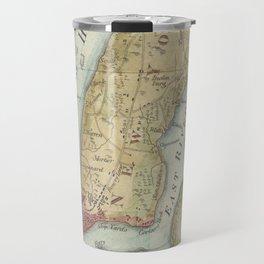 Vintage Map of New York City (1869) Travel Mug