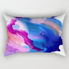 Danbury Abstract Watercolor Painting Rectangular Pillow