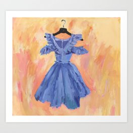 Blue Dress Art Print