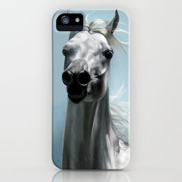 Arabian White Horse Painting iPhone Case