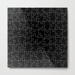 Silver puzzle Metal Print