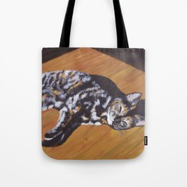 Contentment in a Patch of Sunlight (2015) Tote Bag