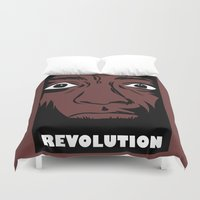 political Duvet Covers featuring political revolution, fight for your rights by gran mike