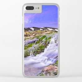 River San Juan. Waterfall At Sunset Clear iPhone Case