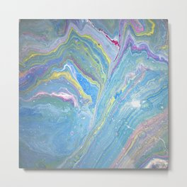 Dirty Art Pour Rainbow Galaxy Metal Print