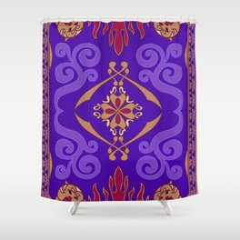 Flying Carpet Aladdin Purple Magic Carpet Shower Curtain
