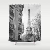 jeep Shower Curtains featuring Paris No1 by Julia Aufschnaiter