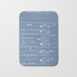Library Card 23322 Negative Blue Bath Mat