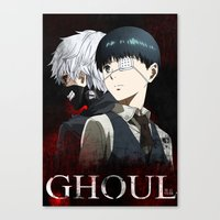 tokyo ghoul Canvas Prints featuring Tokyo Ghoul by 666HUGHES