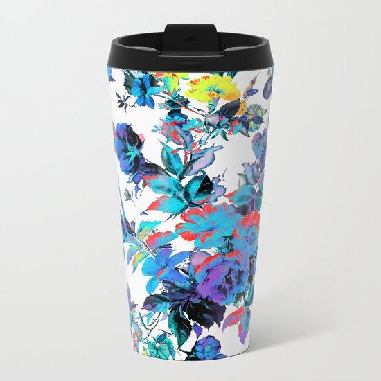 FRACTAL FLORA Metal Travel Mug